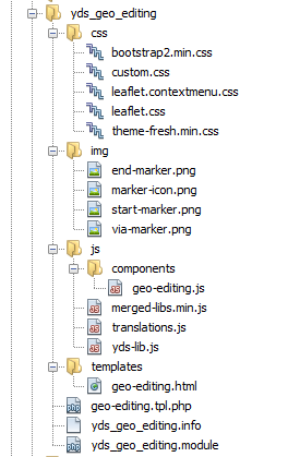 Module folder structure